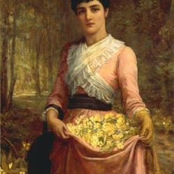 "Masterpiece Mondays: Edwin Long, ""The Daughters of Our Empire. England: The Primrose"""